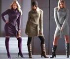 Вязаные платья на зиму: выбираем силуэт